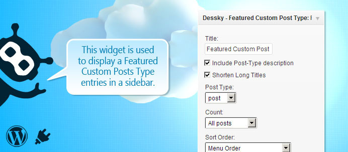 Dessky Featured Custom Post Type Widget