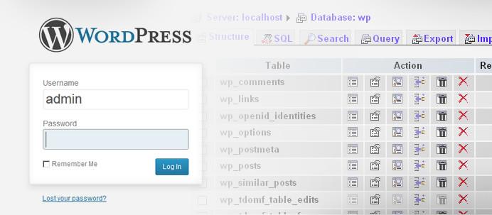recover-wordpress-password-phpmyadmin