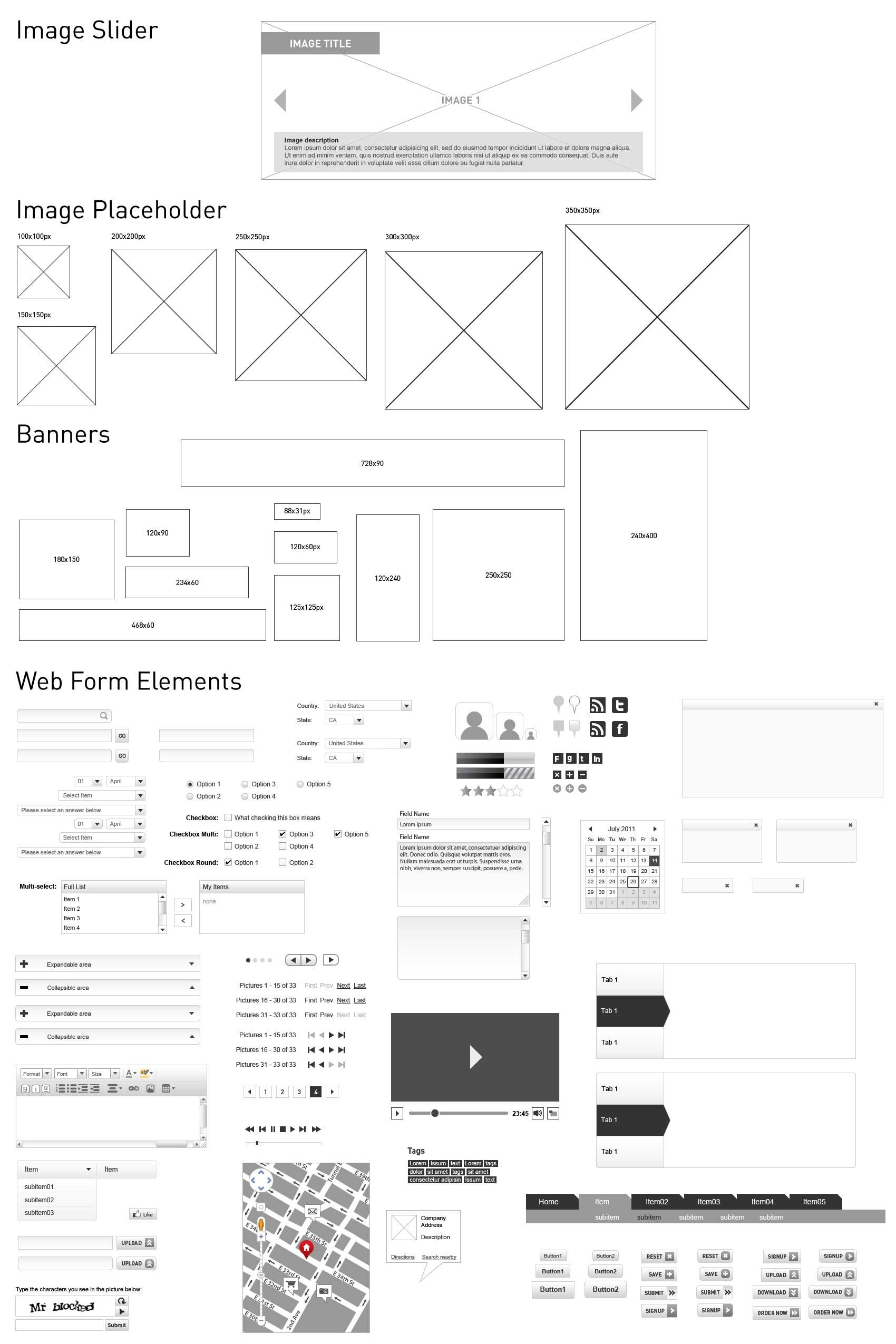 web design wireframe kit dessky com
